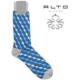 alto milano アルトミラノ ソックス メンズ ブルー 青 並行輸入品 メンズファッション 男性用 ビジネス 日本未入荷 ラッピング無料 送料無料