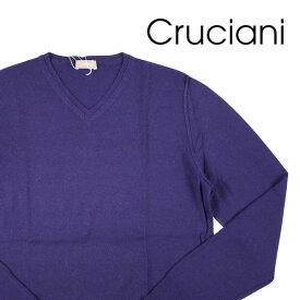 【52】 CRUCIANI クルチアーニ Vネックセーター メンズ 秋冬 カシミヤ100% パープル 紫 並行輸入品 メンズファッション 男性用 ビジネス ニット 大きいサイズ 日本未入荷 ラッピング無料 送料無料