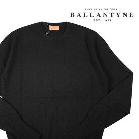 【54】 BALLANTYNE バランタイン 丸首セーター Y2P00012K00 メンズ 秋冬 カシミヤ100% ブラック 黒 並行輸入品 メンズファッション 男性用 ビジネス ニット 大きいサイズ 日本未入荷 ラッピング無料 送料無料