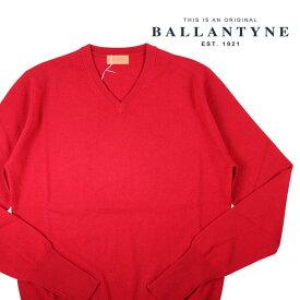 【52】 BALLANTYNE バランタイン Vネックセーター Y2P00112K00 メンズ 秋冬 カシミヤ100% レッド 赤 並行輸入品 メンズファッション 男性用 ビジネス ニット 大きいサイズ 日本未入荷 ラッピング無料 送料無料