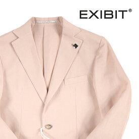 【54】 EXIBIT エグジビット ジャケット メンズ 春夏 リネン混 ピンク 並行輸入品 メンズファッション 男性用 ビジネス アウター トップス 大きいサイズ 日本未入荷 ラッピング無料 送料無料
