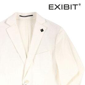 【54】 EXIBIT エグジビット ジャケット メンズ 春夏 シアサッカー ホワイト 白 並行輸入品 メンズファッション 男性用 ビジネス アウター トップス 大きいサイズ 日本未入荷 ラッピング無料 送料無料