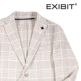 【46】 EXIBIT エグジビット ジャケット メンズ 春夏 チェック ホワイト 白 並行輸入品 メンズファッション 男性用 ビジネス アウター トップス 日本未入荷 ラッピング無料 送料無料