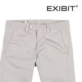 【52】 EXIBIT エグジビット ハーフパンツ メンズ 春夏 水玉 グレー 灰色 並行輸入品 メンズファッション 男性用 ビジネス ズボン 大きいサイズ 日本未入荷 ラッピング無料 送料無料