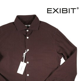 【M】 EXIBIT エグジビット 長袖シャツ メンズ ブラウン 茶 並行輸入品 メンズファッション 男性用 ビジネス カジュアルシャツ 日本未入荷 ラッピング無料 送料無料