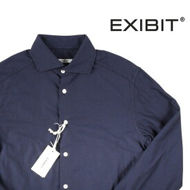 【S】 EXIBIT エグジビット 長袖シャツ メンズ ネイビー 紺 並行輸入品 メンズファッション 男性用 ビジネス カジュアルシャツ 日本未入荷 ラッピング無料 送料無料