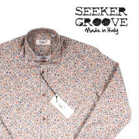SEEKER GROOVE(シーカーグルーブ) 長袖シャツ 7433 ブラウン L 21018 【A21020】