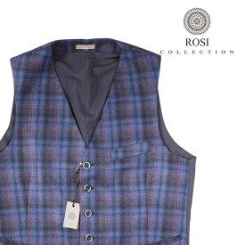 ROSI COLLECTION(ロージコレクション) ジレ GATSBY ブルー x レッド 46 21060 【W21060】