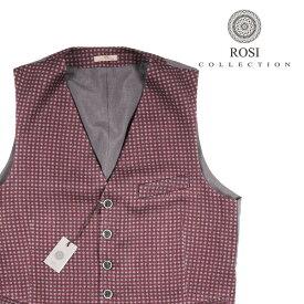 ROSI COLLECTION(ロージコレクション) ジレ GATSBY ワインレッド x グレー 52 21070 【W21073】