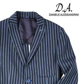 【48】 DANIELE ALESSANDRINI ダニエレアレッサンドリーニ ジャケット メンズ 春夏 ストライプ ネイビー 紺 並行輸入品 メンズファッション 男性用 ビジネス アウター トップス 日本未入荷 ラッピング無料 送料無料