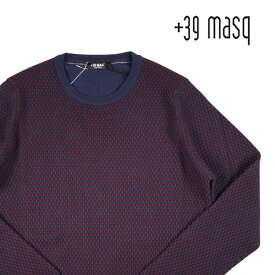 【S】 +39 masq マスク 丸首セーター メンズ 秋冬 ネイビー 紺 並行輸入品 メンズファッション 男性用 ビジネス ニット 日本未入荷 ラッピング無料 送料無料