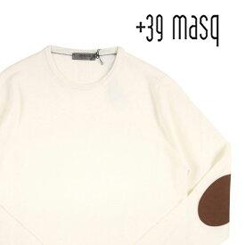 【XL】 +39 masq マスク 丸首セーター メンズ 秋冬 ホワイト 白 並行輸入品 メンズファッション 男性用 ビジネス ニット 日本未入荷 ラッピング無料 送料無料