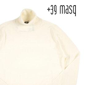 【L】 +39 masq マスク タートルネックセーター メンズ 秋冬 ホワイト 白 並行輸入品 メンズファッション 男性用 ビジネス ニット 日本未入荷 ラッピング無料 送料無料