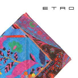 ETRO(エトロ) ポケットチーフ 1T1998540 ブルー x マルチカラー 【S21517】