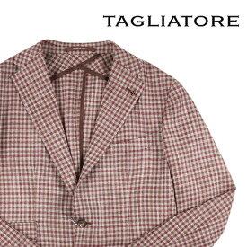 TAGLIATORE(タリアトーレ) ジャケット 1SMC22D ベージュ x ブラウン 50 【S21661】