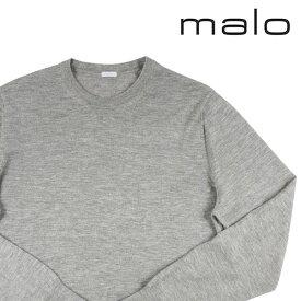 【46】 malo マーロ 丸首セーター メンズ カシミヤ100% グレー 灰色 並行輸入品 メンズファッション 男性用 ビジネス ニット 日本未入荷 ラッピング無料 送料無料