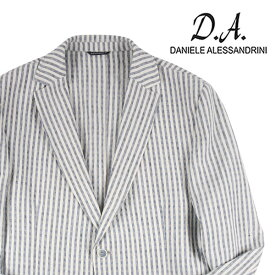 【52】 Daniele Alessandrini ダニエレアレッサンドリーニ ジャケット メンズ 春夏 リネン混 ストライプ ホワイト 白 並行輸入品 メンズファッション 男性用 ビジネス アウター トップス 大きいサイズ 日本未入荷 ラッピング無料 送料無料
