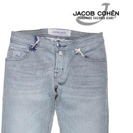 JACOB COHEN(ヤコブコーエン) コットンパンツ J622 COMF ネイビー x ホワイト 36 21954 【A21958】