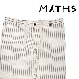 【50】 MYTHS ミズス コットンパンツ メンズ 春夏 ストライプ ホワイト 白 並行輸入品 メンズファッション 男性用 ビジネス ズボン 日本未入荷 ラッピング無料 送料無料