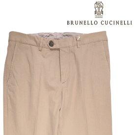 【46】 BRUNELLO CUCINELLI ブルネロクチネリ コットンパンツ M079DT1050 メンズ ベージュ 並行輸入品 メンズファッション 男性用 ビジネス ズボン 日本未入荷 ラッピング無料 送料無料