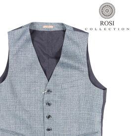 ROSI COLLECTION(ロージコレクション) ジレ GATSBY ブルー x ネイビー 48 22634 【A22635】