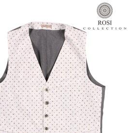 ROSI COLLECTION(ロージコレクション) ジレ GATSBY ホワイト x グレー 46 22639 【S22639】