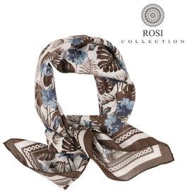 ROSI COLLECTION ロージコレクション スカーフ メンズ シルク混 植物 ホワイト 白 並行輸入品 メンズファッション 男性用 ビジネス 日本未入荷 ラッピング無料 送料無料