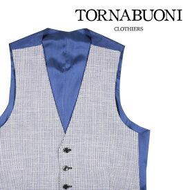 TORNABUONI(トルナブォーニ) ジレ 24013 ホワイト x ネイビー 46 22763 【S22764】