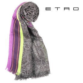 ETRO エトロ ストール メンズ カシミヤ混 ペイズリー マルチカラー 並行輸入品 メンズファッション 男性用 ビジネス 日本未入荷 ラッピング無料 送料無料
