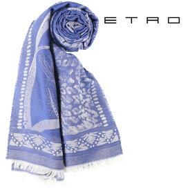 ETRO エトロ ストール メンズ ブルー 青 並行輸入品 メンズファッション 男性用 ビジネス 日本未入荷 ラッピング無料 送料無料