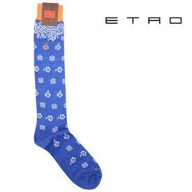 ETRO エトロ ソックス メンズ ブルー 青 並行輸入品 メンズファッション 男性用 ビジネス 日本未入荷 ラッピング無料 送料無料