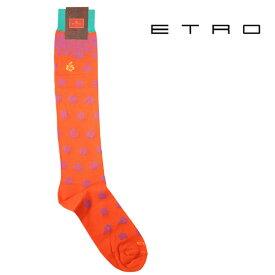ETRO エトロ ソックス メンズ オレンジ 並行輸入品 メンズファッション 男性用 ビジネス 日本未入荷 ラッピング無料 送料無料