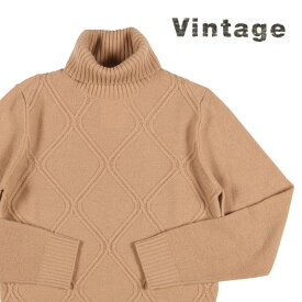 【S】 Vintage ビンテージ タートルネックセーター メンズ 秋冬 カシミヤ100% ベージュ 並行輸入品 メンズファッション 男性用 ビジネス ニット 日本未入荷 ラッピング無料 送料無料