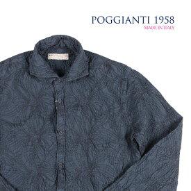 POGGIANTI 1958(ポジャンティ 1958) 長袖シャツ PISA ネイビー 40 23212nv 【A23214】