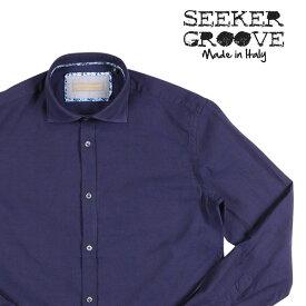 SEEKER GROOVE(シーカーグルーブ) 長袖シャツ 440/B ネイビー L 23401nv 【A23418】