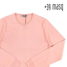 +39 masq(マスク) 丸首セーター 9000 ピンク S 23563pk 【W23563】