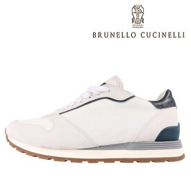 BRUNELLO CUCINELLI(ブルネロクチネリ) スニーカー CU508 ホワイト x ネイビー 44 【A23590】
