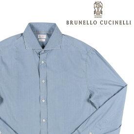 BRUNELLO CUCINELLI(ブルネロクチネリ) デニムシャツ C008 ブルー XL 23623 【A23624】