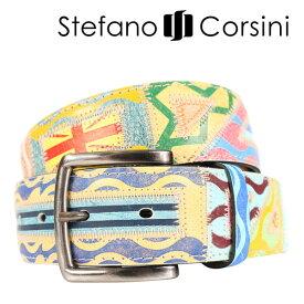 Stefano Corsini(ステファノ・コルシーニ) ベルト FTDECORATA マルチカラー 115 23965 【A23968】