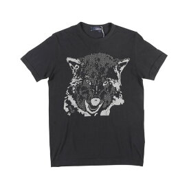 【SUMMER SALE】 LARDINI(ラルディーニ) Uネック半袖Tシャツ IM55055 ブラック M 【A24398】
