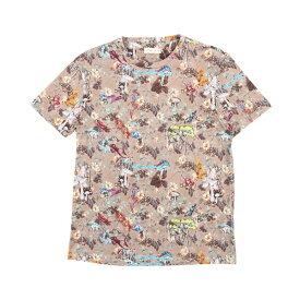 ETRO(エトロ) Uネック半袖Tシャツ 1Y020 ベージュ x マルチカラー XL 25207be 【S25208】