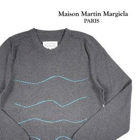 【S】 Martin Margiela マルタンマルジェラ 丸首セーター S30HA0854 メンズ グレー 灰色 並行輸入品 メンズファッション 男性用 ビジネス ニット 日本未入荷 ラッピング無料 送料無料