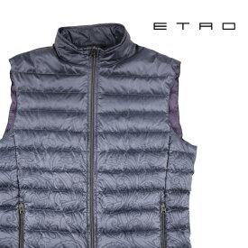 ETRO エトロ ダウンベスト メンズ 秋冬 グレー 灰色 並行輸入品 メンズファッション 男性用 ビジネス アウター トップス 日本未入荷 ラッピング無料 送料無料