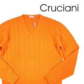 【48】 CRUCIANI クルチアーニ Vネックセーター メンズ 秋冬 カシミヤ100% オレンジ 並行輸入品 メンズファッション 男性用 ビジネス ニット 日本未入荷 ラッピング無料 送料無料