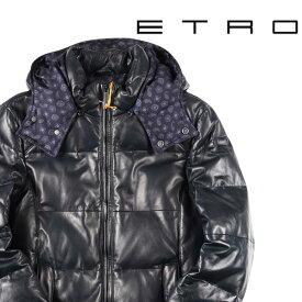 【M】 ETRO エトロ ダウンジャケット メンズ 秋冬 レザー ブラック 黒 レザー 並行輸入品 メンズファッション 男性用 ビジネス アウター トップス 日本未入荷 ラッピング無料 送料無料
