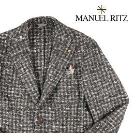 【46】 MANUEL RITZ マニュエル リッツ ジャケット メンズ 秋冬 ブラウン 茶 並行輸入品 メンズファッション 男性用 ビジネス アウター トップス 日本未入荷 ラッピング無料 送料無料