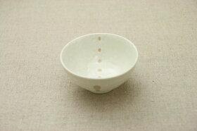 シンプルドット水玉白/黒小さめ茶碗1個/陶器/茶碗/子供/飯碗