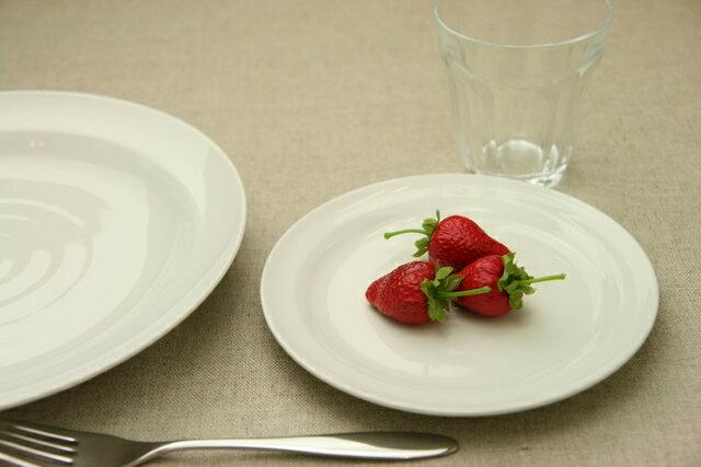 ミルキーホワイト 16.5cmラウンドプレートM 皿/白い/アイボリー/丸/フルーツ皿/ケーキ皿【 02P26Mar16 】