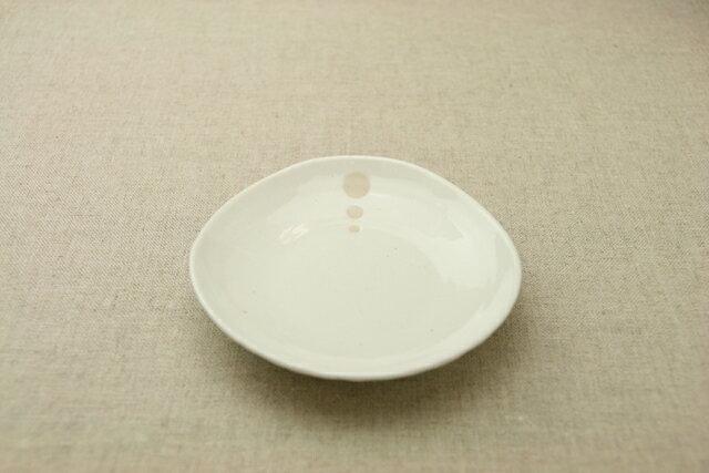 シンプルドット 水玉 白/黒 ほっこり13.5cmプレートSMMよりちょっと小さめの取り皿、4寸小皿【 02P18Jun16 】