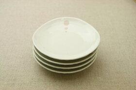 シンプルドット水玉白/黒ほっこり12cmプレートSM/Mよりちょっと小さめ/小皿/取り皿/4寸